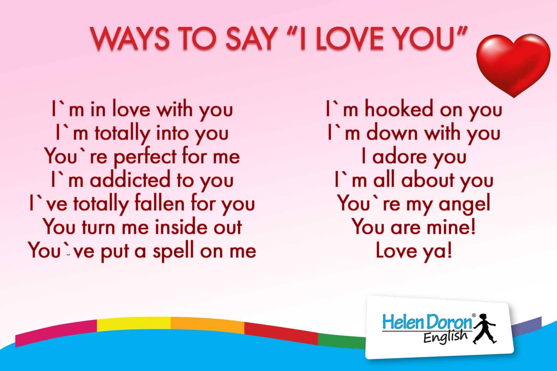 14 frases y una canci³n de amor para decir te quiero en inglés Helen Doron